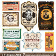 Stock Vector: Vintage Labels Collection