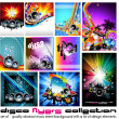 10 Abstract Music Background for Discoteque Flyer set 3 — Stock Vector #6764126