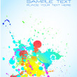 Artistic Background with grunge drops of liquid — Stock Vector #6764496