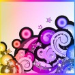 Fantasy Bubbles Background with Colorful Rainbow Effect - Stock Vector