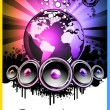 Colorul Music Event Background for Discotheque Flyers — Stock Vector #6764941