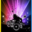 Discoteque Colorful Background for flyers — 图库矢量图片