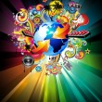 Flyer Background for International Global Music Event — Stock Vector #6765489