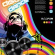 Vector de stock : Discoteque promotional event Flyer
