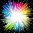 Royalty-Free Stock Vector: Rainbow Ray of lights explosion background