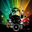 Colorful Burning Dj Background for Alternative Disco Flyers — Stock vektor