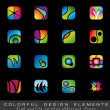 Colorful collection of Design Elements — Stock Vector