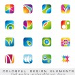 Colorful collection of Design Elements — Stock Vector #6766738