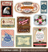 Vintage Labels Collection — Stock Vector