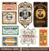 Coleção de rótulos vintage — Vetorial Stock
