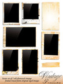 Collection of Vintage Photo Frames traded from original aged photography — Stock Vector