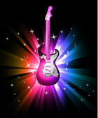 Disco Dance Background with Electric Guitar — Stock Vector