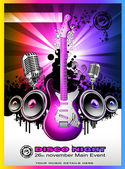 Colorul Music Event Background for Discotheque Flyers — Stock Vector