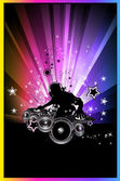 Discoteque Colorful Background for flyers — Stock Vector