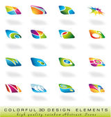 Abstract design elments with soft shadow and delicate colours — Stock Vector