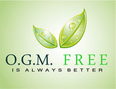 OGM free slogan — Stock Vector