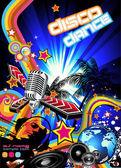 Magic Disco Music Event Background — Stock Vector