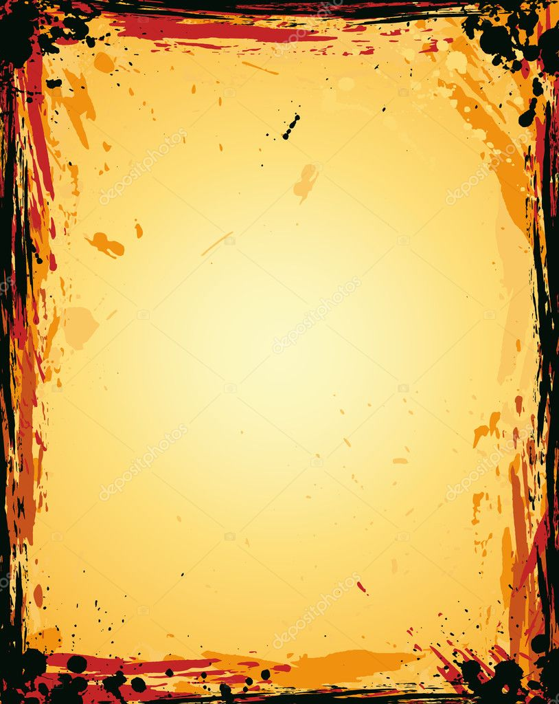 Grunge Background with Aged effect and burnt borders — Stock Vector #6764159