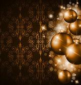 Merry Christmas Elegant Suggestive Background — Stock Vector