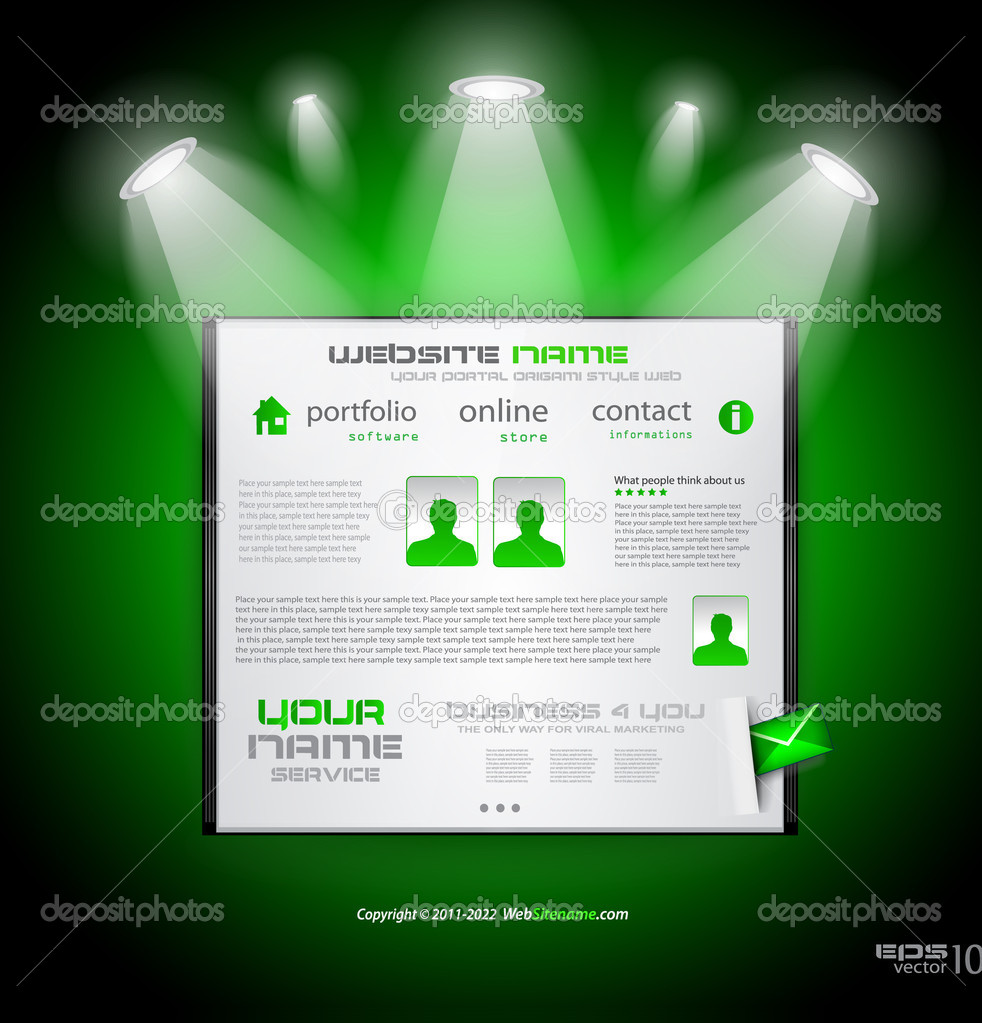 Hitech стиль бизнес веб сайт шаблон для