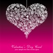 Colorful Valentine's Day Card Background — Imagen vectorial