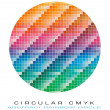 CMYK colours palette for Abstract Background - Stock vektor