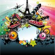 Stock Vector: Paris Disco Event Background