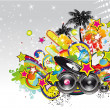 Music event background for flyers or posters - Stock Vector