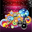 Stock Vector: Discotheque Colorful Background for Flyers