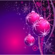 Christmas Balls Background - Stock Vector