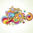 Royalty-Free Stock Imagem Vetorial: Fantasy colorful Background