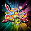 Disco Music Background — Stock Vector #6865161