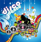 Discoteque Colorful Background — Stock Vector