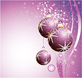 Christmas Balls Background — Stock Vector