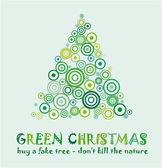 Green Christmas Card — Stock Vector