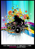 Disco Event Background with colorful elements — Stock Vector