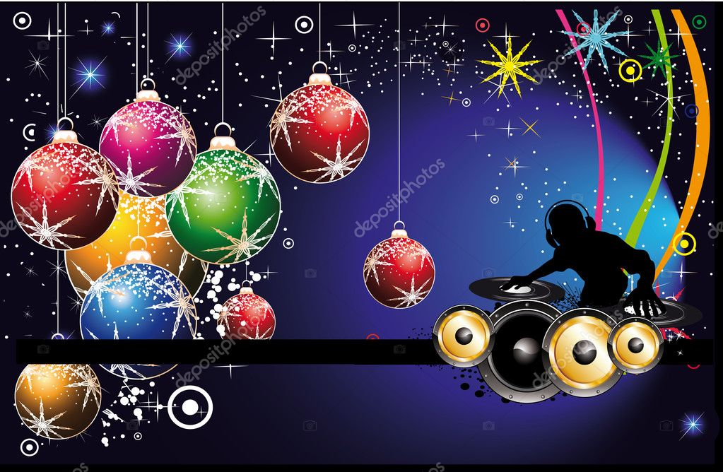 Christmas Party Flyer Sample http://depositphotos.com/6860340/stock-illustration-Dj-Christmas-Party-Flyer.html