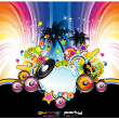 Abstract Tropical and latin music event background — Imagen vectorial