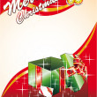 Royalty-Free Stock Imagen vectorial: Christmas Card with Giftbox