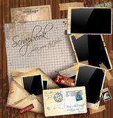 Vintage scrapbook kompozisyon — Stok Vektör