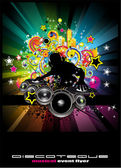 Music event Background for Discoteque flyers — Stock Vector