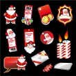 Set fo various Christmas Elements - Stock Vector