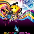 Colorful Discoteque Flyer - Stock Vector