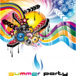 Music Background for Discoteque Flyers - Vettoriali Stock