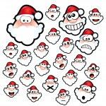 Santa Claus Expressions — Stock Vector #6946167