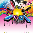 Vector de stock : Tropical Latin Musical Event Background