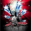 Royalty-Free Stock Vector Image: Background for Disco Flyers with USA Flag motive