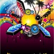 Fondo de evento musical Latina tropical — Vector de stock