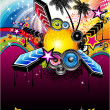 Tropical Latin Musical Event Background — Stock vektor