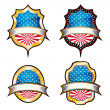 USA Vintage Emblems — Stock Vector